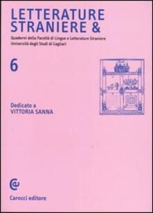 Camfeed.it Letterature straniere &. Quaderni della Facoltà di lingue e letterature straniere dell'Università degli studi di Cagliari. Vol. 6 Image