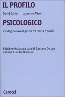 Premioquesti.it Il profilo psicologico. L'indagine investigativa fra teoria e prassi Image