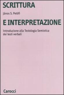 Nordestcaffeisola.it Scrittura e interpretazione. Introduzione alla testologia semiotica dei testi verbali Image
