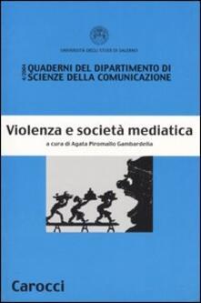 Violenza e società mediatica - copertina