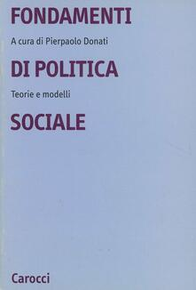 Filmarelalterita.it Fondamenti di politica sociale. Teorie e modelli Image