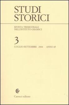 Studi storici (2004). Vol. 3 - copertina