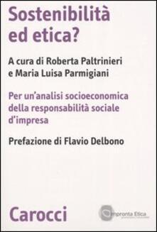 Lpgcsostenible.es Sostenibilità ed etica? Per un'analisi socioeconomica della responsabilità sociale d'impresa Image