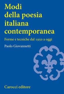 Vitalitart.it Modi della poesia italiana contemporanea. Forme e tecniche dal 1950 a oggi Image