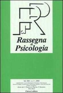 Vitalitart.it Rassegna di psicologia (2004). Vol. 3 Image