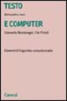 Vitalitart.it Testo e computer. Elementi di linguistica computazionale Image