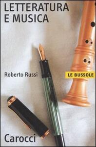 Letteratura e musica - Roberto Russi - copertina