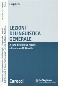 Lezioni di linguistica generale