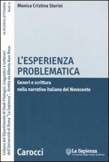 L esperienza problematica. Generi e scrittura nella narrativa italiana del Novecento.pdf