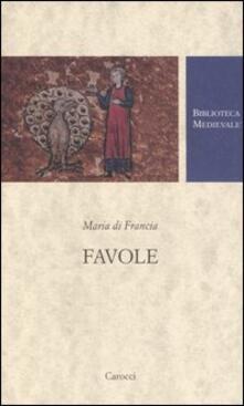 Favole. Testo francese a fronte - Maria di Francia - copertina