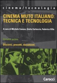 Winniearcher.com Cinema muto italiano: tecnica e tecnologia. Vol. 1: Discorsi, precetti, documenti. Image