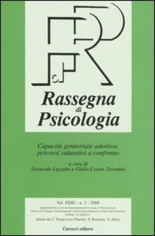 Charun.it Rassegna di psicologia (2006). Vol. 2 Image