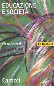 Libro Educazione e società Elena Besozzi