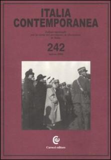 Associazionelabirinto.it Italia contemporanea. Vol. 242 Image