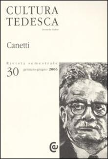 Daddyswing.es Cultura tedesca. Ediz. multilingue. Vol. 30: Canetti. Image