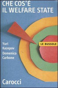 Libro Che cos'è il welfare state Yuri Kazepov , Domenico Carbone