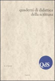 Aboutschuster.de QdS. Quaderni di didattica della scrittura (2007). Vol. 7 Image