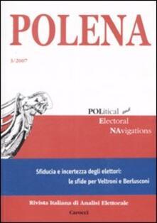Recuperandoiltempo.it Polena. Rivista italiana di analisi elettorale (2007). Ediz. italiana e inglese. Vol. 3 Image