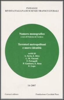 3tsportingclub.it Passaggi (2007). Rivista italiana di scienze transculturali. Vol. 14 Image