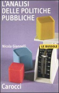 Libro L' analisi delle politiche pubbliche Nicola Giannelli