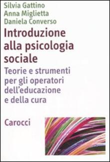 Camfeed.it Introduzione alla psicologia sociale. Teorie e strumenti per gli operatori de'educazione e della cultura Image