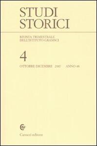 Studi storici (2007). Vol. 4