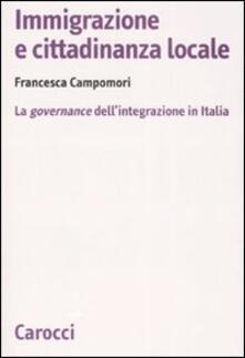 Luciocorsi.it Immigrazione e cittadinanza locale. La governance dell'integrazione in Italia Image