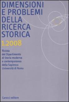 Amatigota.it Dimensione e problemi della ricerca storica. Rivista del dipartimento di storia moderna e contemporanea dell'Università degli studi di Roma «La Sapienza» (2008). Vol. 1 Image