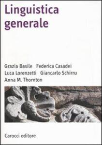 Libro Linguistica generale