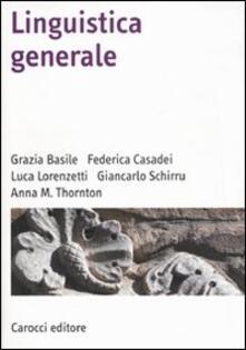Linguistica generale - copertina