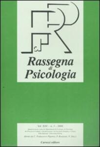 Rassegna di psicologia (2008). Vol. 3