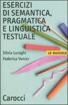 Voluntariadobaleares2014.es Esercizi di semantica, pragmatica e linguistica testuale Image