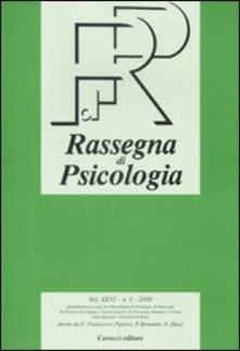 Radiospeed.it Rassegna di psicologia (2009). Vol. 1 Image