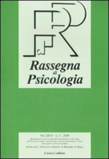 Voluntariadobaleares2014.es Rassegna di psicologia (2009). Vol. 1 Image