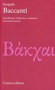 Libro Baccanti Euripide