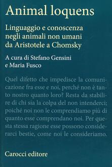 Ilmeglio-delweb.it Animal loquens. Linguaggio e conoscenza negli animali non umani da Aristotele a Chomsky Image
