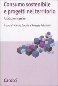 Libro Consumo sostenibile e progetti nel territorio. Analisi e ricerche