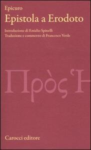 Libro Epistola a Erodoto Epicuro
