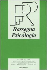 Rassegna di psicologia (2009). Vol. 3