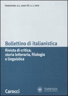 Mercatinidinataletorino.it Bollettino di italianistica (2010). Vol. 1 Image