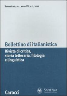 Antondemarirreguera.es Bollettino di italianistica. Rivista di critica, storia letteraria, filologia e linguistica (2010). Vol. 2 Image