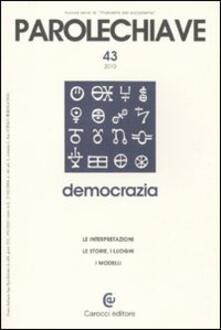 Capturtokyoedition.it Parolechiave (2010). Vol. 43: Democrazia. Image