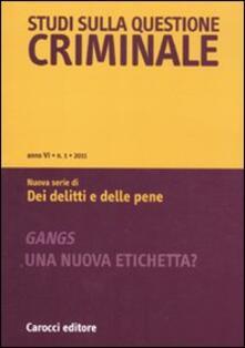 Steamcon.it Studi sulla questione criminale (2011). Vol. 1 Image