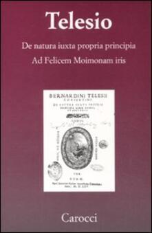 Camfeed.it De natura iuxta propria principia. Ad Felicem Moimonam iris (rist. anast.) Image
