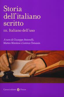 Voluntariadobaleares2014.es Storia dell'italiano scritto. Vol. 3: Italiano dell'uso. Image