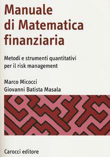 Secchiarapita.it Manuale di matematica finanziaria. Metodi e strumenti quantitativi per il risk management Image