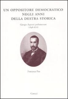 Ascotcamogli.it Un oppositore democratico negli anni della destra storica. Giorgio Asproni parlamentare (1848-1876) Image