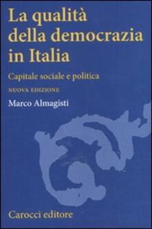 Daddyswing.es La qualità della democrazia in Italia. Capitale sociale e politica Image