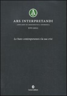 Voluntariadobaleares2014.es Ars interpretandi. Vol. 16: Lo Stato contemporaneo e la sua crisi. Image