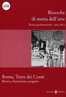 Camfeed.it Ricerche di storia dell'arte (2012). Vol. 108 Image